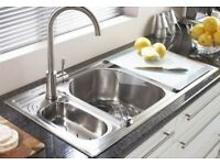 ASTRACAST ECHO 1.5 BOWL STAINLESS STEEL SINK - RIGHT HAND DRAINER SINK