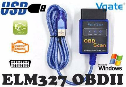 VGATE ELM327 OBDII V1.5 USB Cable Laptop Car Vehicle Diagnostic
