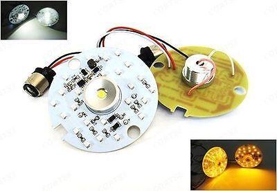 2x Amber White 1157 LED for Harley-Davidson Turn Signal Daytime Driving Light