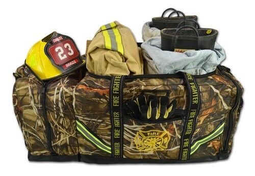 Camouflage 3XL Firefighter Step-In Gear Bag w/ Helmet Compartment – Deep Woods C
