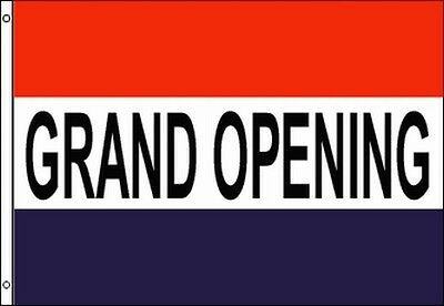 Grand Opening Advertising Flag Banner 3x5 Ft Business Sign Open Store Promotion