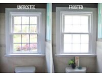 Frosted windows and graphics - bathrooms- car- vans- walls -signs
