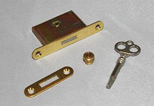 Upright Piano Lock and Key - 4 Piece Kit Brass Vertical Piano
