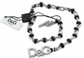 Dolce & Gabbana D&G Jewellery Silver Chain Necklace Unisex DJ0154