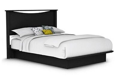 Black QUEEN Platform Bed with Headboard - No Box Spring Needed - SHIPS FREE
