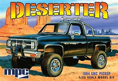 MPC Deserter 1984 GMC 4x4 Pickup Truck molded black 1/25 model car kit new 848