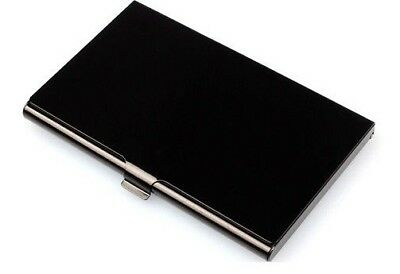Metal Business Card Holder Case Id Credit Wallet Aluminum Black