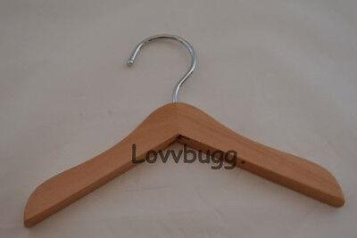 "Lovvbugg 3 Wood Hangers for 18"" American Girl Doll Accessory"