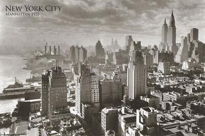 Poster NEW YORK CITY - Manhattan 1931 NEU 57320