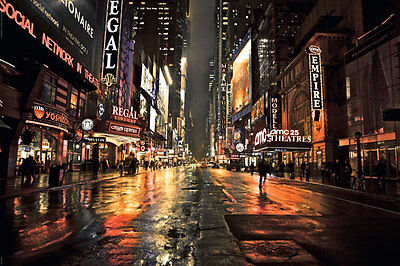 Poster NEW YORK - 42nd Street Manhattan  NEU 57894