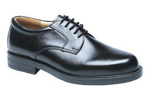 Mens-New-black-leather-Gibson-shoes-6-7-8-9-10-11-12-13-14