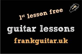 professional GUITAR TEACHER LESSON - just 4min from Canning Town station