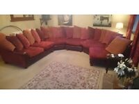 ***LOOK*** Tetrad Strass Hayden leather large burgundy corner section sofa