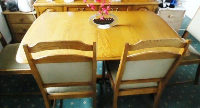Tremendous Solid Oak Extendable Dining Suite In Nottingham Nottinghamshire Gumtree Interior Design Ideas Gresisoteloinfo