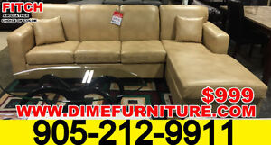 Air-leather Canadian Made Sectional Sofa