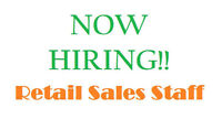 Full-Time & Part-Time Showroom Sales Associate