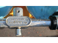 Twin Aluminum Heavy Duty Diving Cylinders complete with manifold & MDE Heavy duty Harness