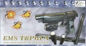 EMS TopGun Light Gun with recoil x 2 - MAME, PS2, Xbox