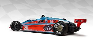1984 REPLICARZ GORDON JOHNCOCK STP COSWORTH INDY 500 RACE CAR 1:18 USAC DIECAST