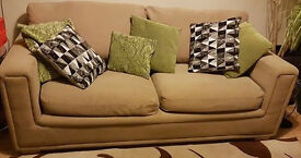 3 seater beige sofa