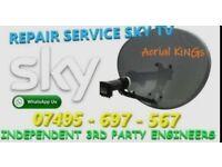 Sky Dish, Satellite Dish, Sky Box, Sky Remote, for Repair on Installation.