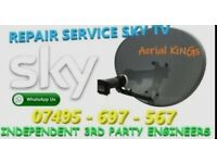 SKY SATELLITE DISH FOR REPAIR ON NEW FITTING