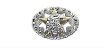 """Eagle Star Trophy Buckle 1-1/2"""" (38 mm) - Tandy Leather #1758-00 Free Ship to US"""