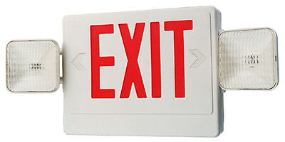 Emergency Light Exit Sign Combo With Battery Back-up - Ul Listed