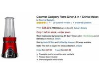 Gourmet Gadgetry Retro Diner 3-in-1 Drinks Maker, 250 W, Red only £10