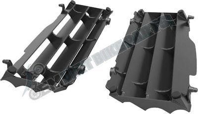 KTM Radiator Guards Louvers Assembly Black OEM Stock Left Right Set Plastic Fin