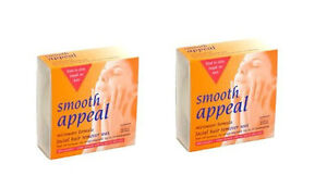 Smooth-Appeal-Microwave-Facial-Face-Hair-Remover-Removal-Wax-Waxing-2-Pack-Kit