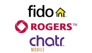 CHATR CUSTOMERS! Plans AVAILABLE WITH ROGERS AS LOW AS $25