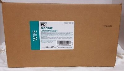 SEE CLEAR EYE GLASS CLEANING WIPES (PDI) (Case = 12 Boxes X 120) New In Box!