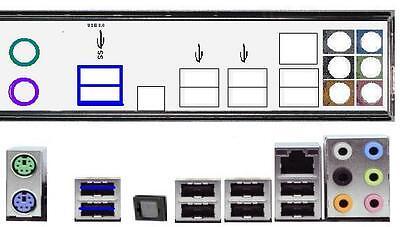 ATX Blende I/O shield Asus P8H67 NEU OVP io shield #138 P8H61...