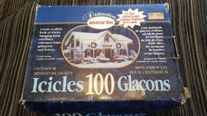 Universal Lites Outdoor Miniature Icicle Lights 100-never used
