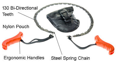 Pocket Saw - Survival Pocket Chain Saw, Portable Folding Hand Chainsaw Outdoor Gear Black