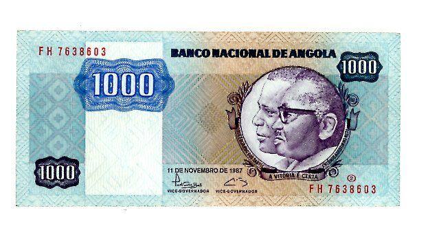 Angola ... 121b ... 1.000 Kwanzas ... (1987) ... *AU/UNC*
