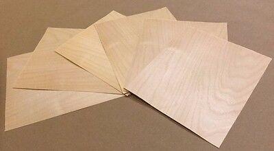 Birch Wood Veneer Rawunbacked - Pack Of 3 - 9 X 9 X 0.024 Sheets