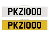 PKZ1000 - Cherished Number plate for sale