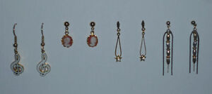 4 pair of Pierced Earrings ... As shown .. FREE alcohol pads .. Cambridge Kitchener Area image 2