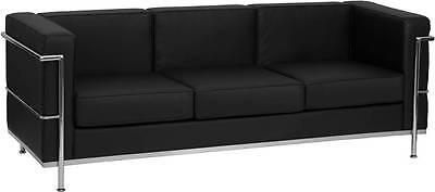 hercules regal series contemporary black leather sofa