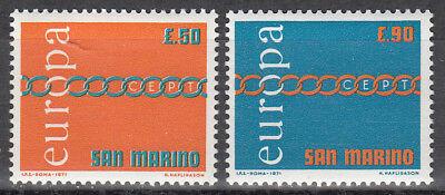 SAN MARINO NR 975 976 EUROPA CEPT 1971