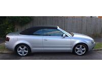 Audi A4 Convertible 1.8 T Sport 2004 MOT 2017 Petrol & LPG Silver harmony kardon upgrade! QUICK SALE
