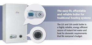 CHEAP COMBI BOILER - Ferroli i29 Gas Boiler & Flue & Clock - BRAND NEW 28kw