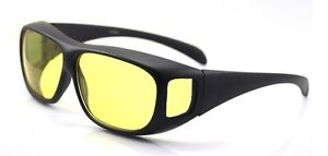 LDNOPTICS™ Wrap Fit Over Night Vision Driving Anti Glare Glasses Polarised Lorry