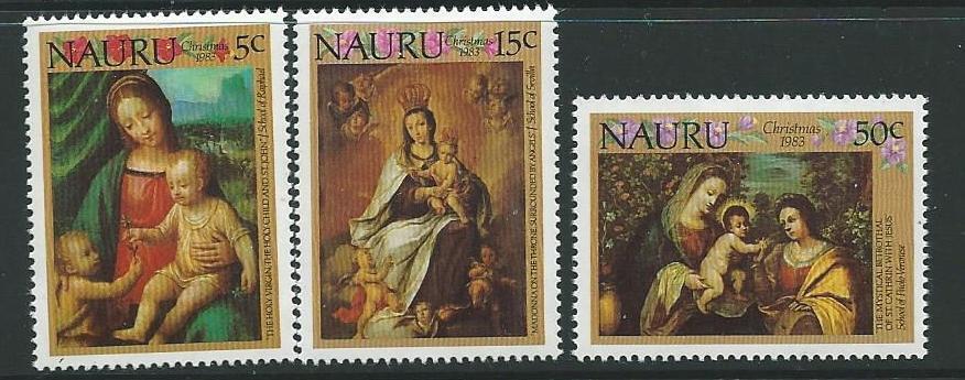 NAURU SG292/4 1983 CHRISTMAS MNH