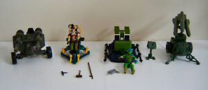 Collection of Vintage Hasbro G.I. Joe Action Vehicles - 1980's