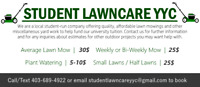 Student Lawncare YYC - Lawn Mowing, Plant Watering, and more!
