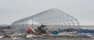 NEW 40X80X23 DOUBLE TRUSS FABRIC STORAGE BUILDING SHELTER Edmonton Edmonton Area image 10