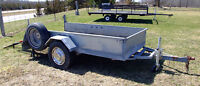 4'x8' GALVANISED TRAILER UTILITY BIKE LANDSCAPE YARD LAWNMOWER A
